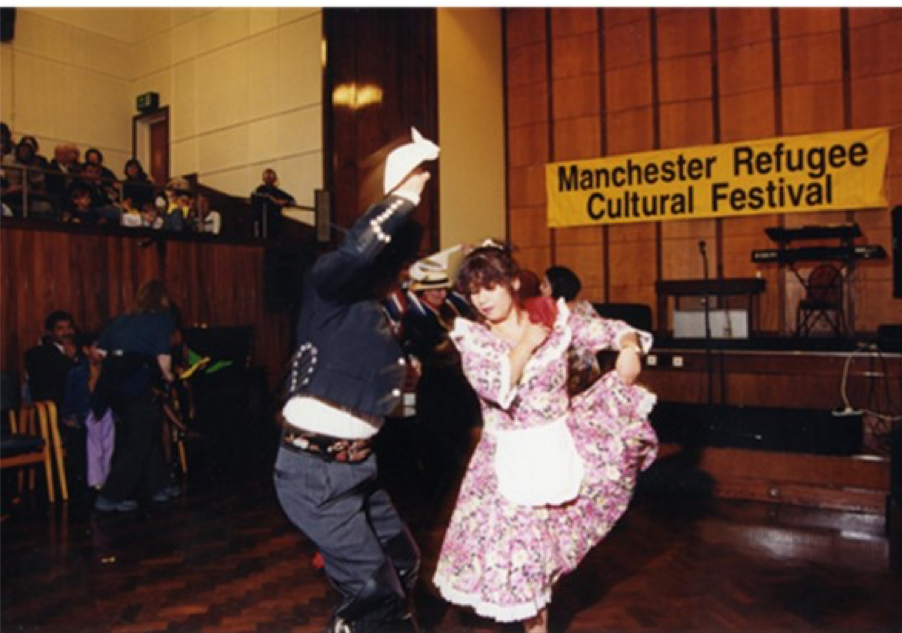 Couple dancing at an event