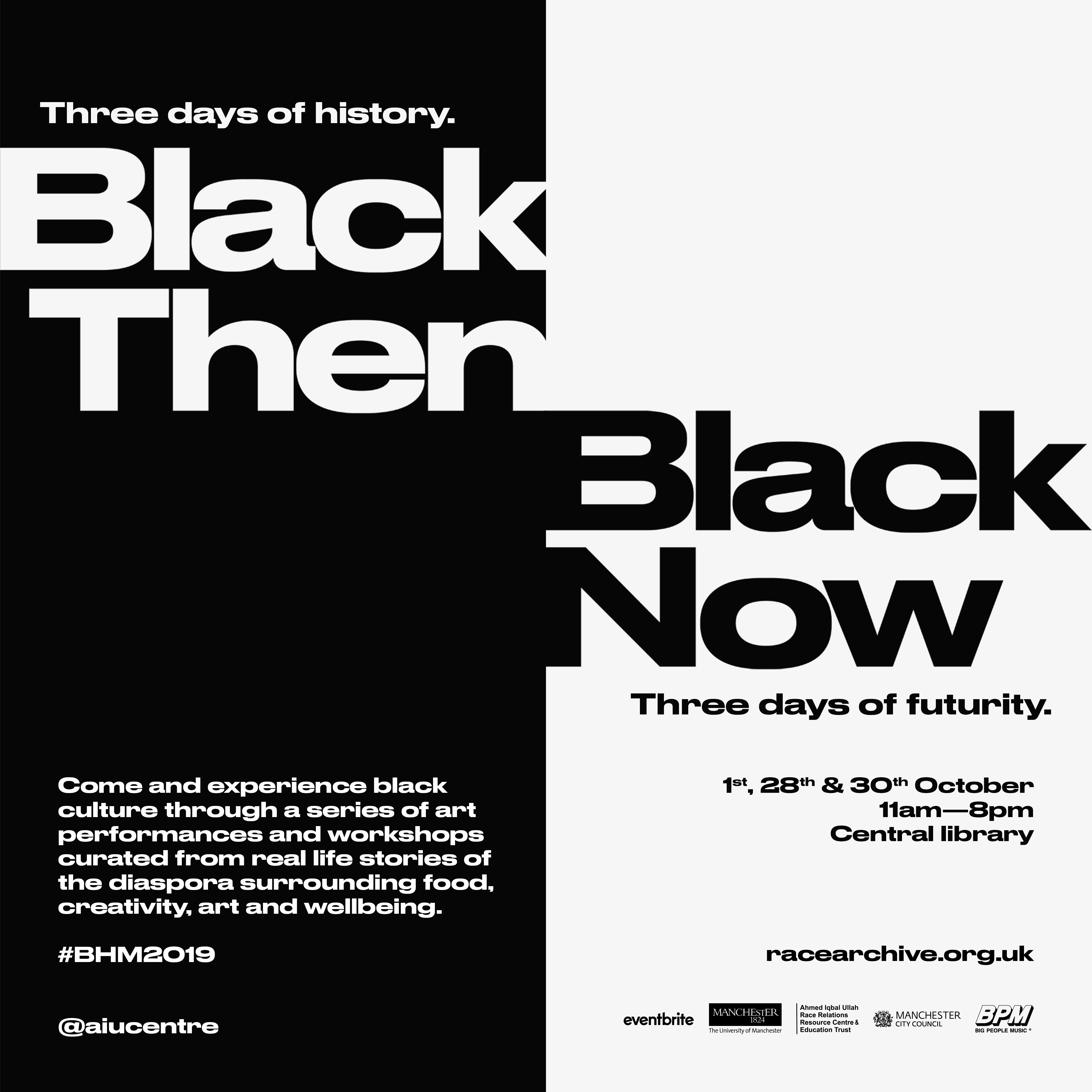 Poster for Black History Month 2019 Events