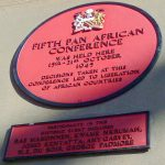 Plaque commemorating 5th Pan-African Conference