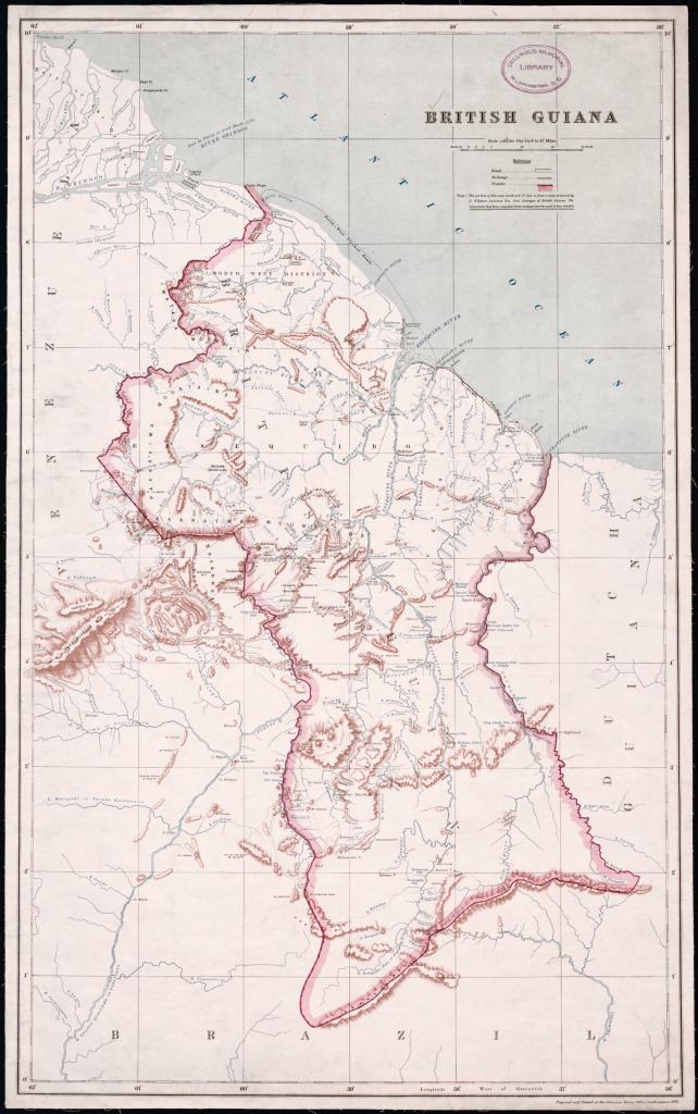 Map of British Guiana 1908
